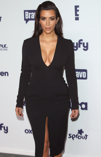 TV personality Kim Kardashian attends the 2014 NBCUniversal Cable Entertainment Upfronts  at The Jacob K. Javits Convention Center on May 15, 2014 in New York City. (Photo by Jim Spellman/WireImage)