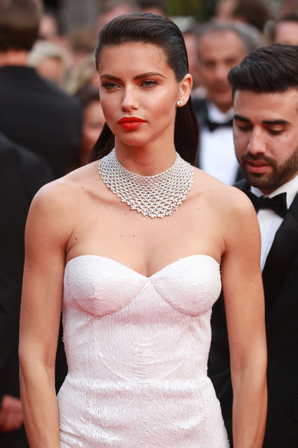 """Adriana Lima attends the """"Nelyobov (Loveless)"""" screening during the 70th annual Cannes Film Festival at Palais des Festivals on May 18, 2017 in Cannes, France.  (Photo by Antonio de Moraes Barros Filho/FilmMagic)"""