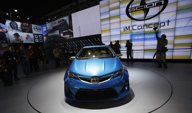 The Scion iM concept car is shown at its debut at the Los Angeles Auto Show in Los Angeles, California November 19, 2014. (Photo by Mario Anzuoni/Reuters)