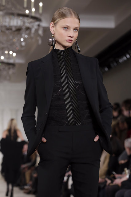 The Ralph Lauren Fall 2015 collection is modeled during Fashion Week, in New York, Thursday, February 19, 2015. (Photo by Richard Drew/AP Photo)