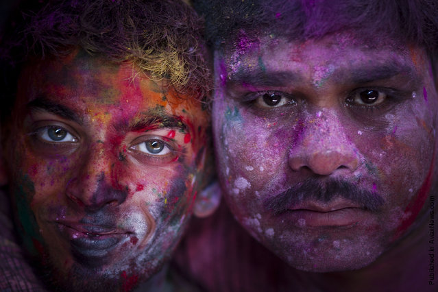 Hindu Devotees Celebrate Holi Festival In India