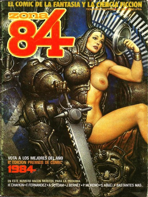 Cover for Zona 84 Magazine. Artwork by Oscar Chichoni