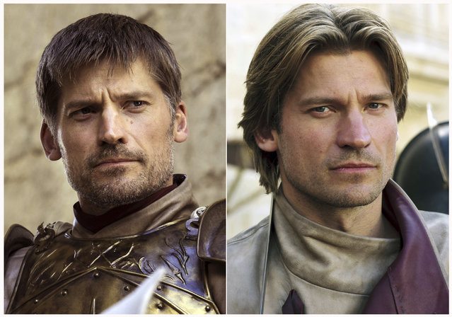 "This combination photo of images released by HBO shows Nikolaj Coster-Waldau portraying Jaime Lannister in ""Game of Thrones"". The final season of the popular series premieres on April 14. (Photo by HBO via AP Photo)"