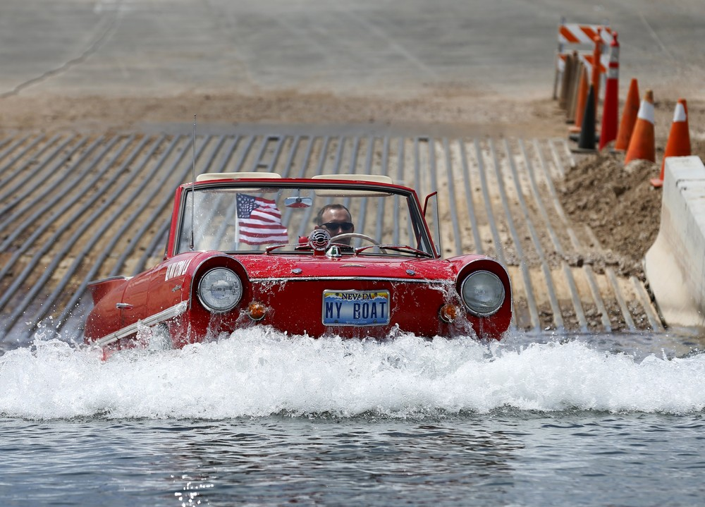 James Spears and his Amphicar