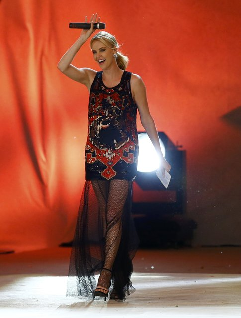 Actress Charlize Theron performs on stage during the opening ceremony of the 23rd Life Ball in Vienna, Austria May 16, 2015. (Photo by Leonhard Foeger/Reuters)