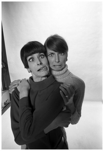 Johanna Shimkus and July Egérie de WR, Studio Willy Rizzo, Paris, 1966. (Photo by Willy Rizzo)