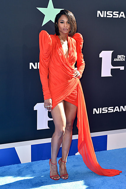 Ciara attends the 2019 BET Awards at Microsoft Theater on June 23, 2019 in Los Angeles, California. (Photo by Aaron J. Thornton/Getty Images for BET)