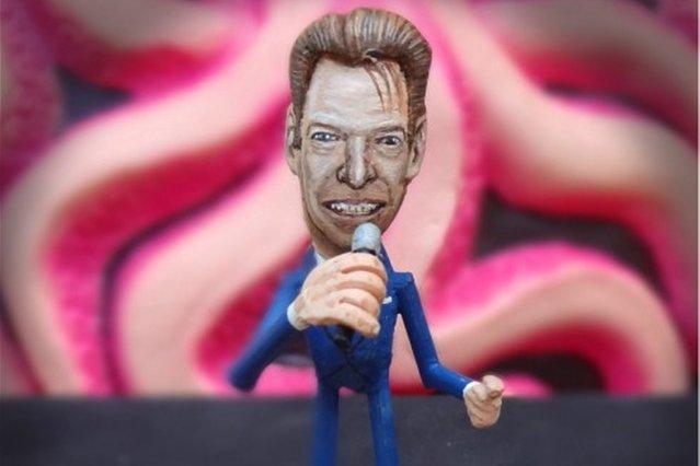 Artist Steve Casino creates celebrity sculptures from peanut shells in New York City. (Photo by Steve Casino)