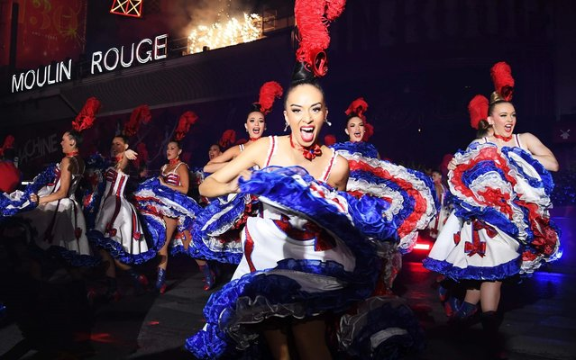 Dancers perform at the 130th Anniversary Le Moulin Rouge celebration on October 6, 2019 in Paris, France. (Photo by Pascal Le Segretain/Getty Images)