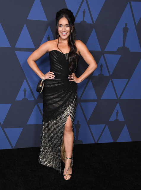 Q'orianka Kilcher arrives at the Academy Of Motion Picture Arts And Sciences' 11th Annual Governors Awards at The Ray Dolby Ballroom at Hollywood & Highland Center on October 27, 2019 in Hollywood, California. (Photo by Steve Granitz/WireImage)