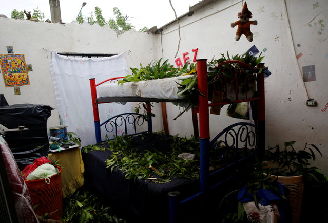 Branches and debris are seen in beds in a home damaged after the passing of Hurricane Franklin, in Vega De alatorre in Veracruz state, Mexico, August 10, 2017. (Photo by Henry Romero/Reuters)