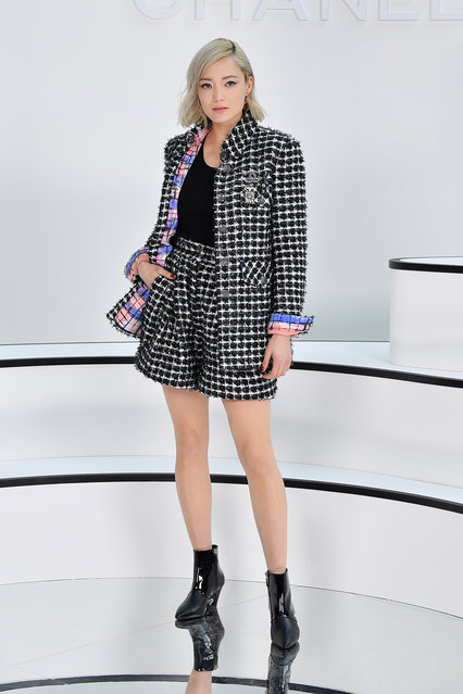 Pom Klementieff attends the Chanel show as part of the Paris Fashion Week Womenswear Fall/Winter 2020/2021 on March 03, 2020 in Paris, France. (Photo by Stephane Cardinale - Corbis/Corbis via Getty Images)