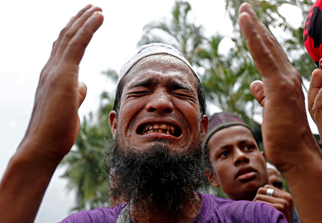 A Rohingya muslim living in Malaysia protests against the treatment of Myanmar's Rohingya Muslims near the Myanmar embassy in Kuala Lumpur, Malaysia September 8, 2017. (Photo by Lai Seng Sin/Reuters)