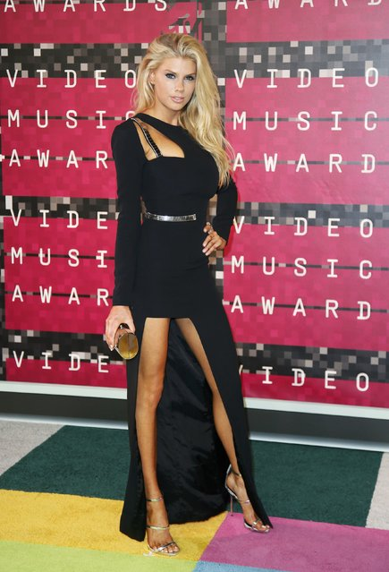 Model Charlotte McKinney arrives at the 2015 MTV Video Music Awards in Los Angeles, California, August 30, 2015. (Photo by Danny Moloshok/Reuters)