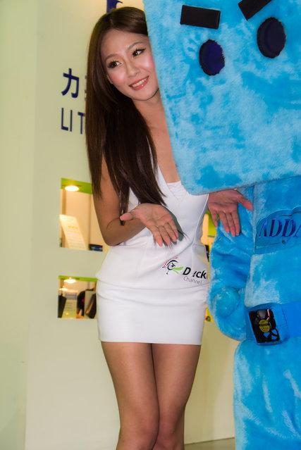 Asian Beauty: Hot Promotional Models in Taipei, Taiwan. Computex Taipei 2012
