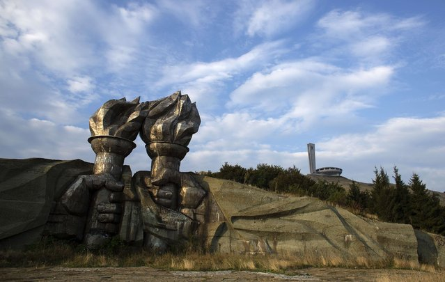 A monument is seen near the Memorial House of the Bulgarian Communist Party on mount Buzludzha September 12, 2014. (Photo by Stoyan Nenov/Reuters)