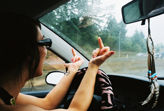 """""""This is Gracelyn Hogle, she hate's driving"""". (Photo and comment by rachiedoubt)"""