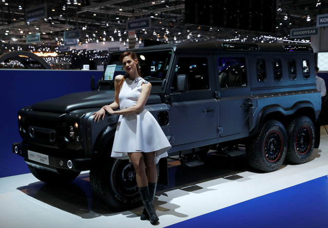The new Chelsea Civilian 6x6 is presented during the press day at the 88th Geneva International Motor Show in Geneva, Switzerland on Tuesday, March 6, 2018. (Photo by Denis Balibouse/Reuters)