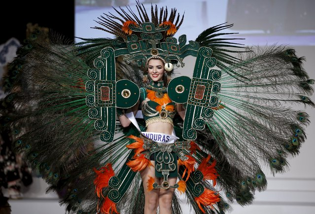 Jennifer Valle representing Honduras poses in her national dress during the 55th Miss International Beauty Pageant in Tokyo, Japan, November 5, 2015. (Photo by Toru Hanai/Reuters)