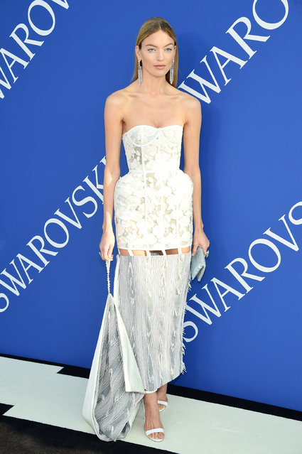 Martha Hunt attends the 2018 CFDA Fashion Awards at Brooklyn Museum on June 4, 2018 in New York City. (Photo by Dimitrios Kambouris/Getty Images)