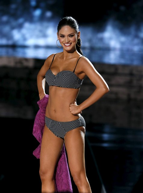 Miss Philippines Pia Alonzo Wurtzbach competes in the swimsuit competition during the 2015 Miss Universe Pageant in Las Vegas, Nevada December 20, 2015. (Photo by Steve Marcus/Reuters)