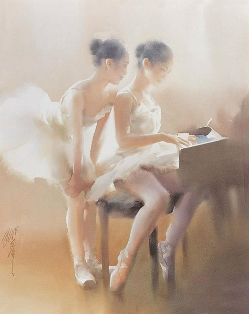 Watercolour By Liu Yi