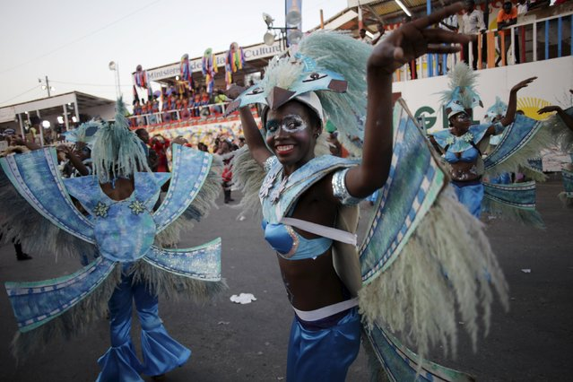 Revellers take part in the Carnival 2016 parade in Port-au-Prince, Haiti, February 8, 2016. (Photo by Andres Martinez Casares/Reuters)