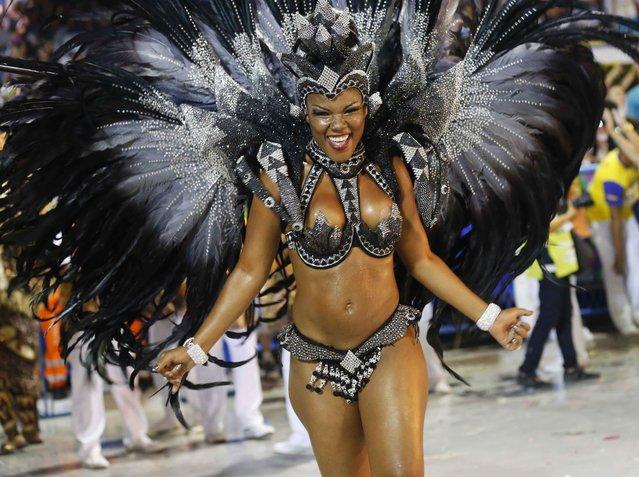 Revellers of the Salgueiro samba school participate in the annual Carnival parade in Rio de Janeiro's Sambadrome, March 3, 2014. (Photo by Sergio Moraes/Reuters)