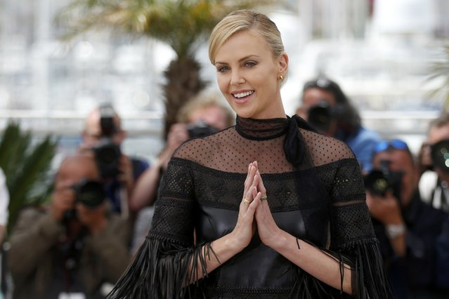 "Cast member Charlize Theron poses during a photocall for the film ""Mad Max: Fury Road"" out of competition at the 68th Cannes Film Festival in Cannes, southern France, May 14, 2015. (Photo by Benoit Tessier/Reuters)"