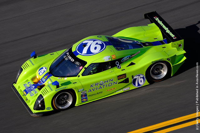 The #76 DP Ford Lola, driven by Tracy Krohn, Nic Jonsson, Ricardo Zonta and Colin Braun drives during the Rolex 24