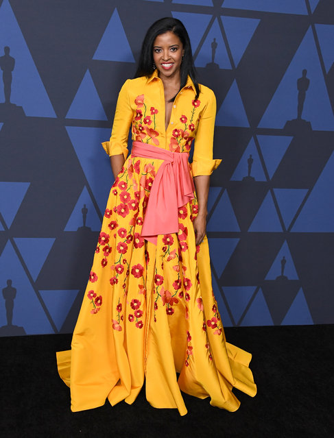 Renee Elise Goldsberry arrives at the Academy Of Motion Picture Arts And Sciences' 11th Annual Governors Awards at The Ray Dolby Ballroom at Hollywood & Highland Center on October 27, 2019 in Hollywood, California. (Photo by Steve Granitz/WireImage)