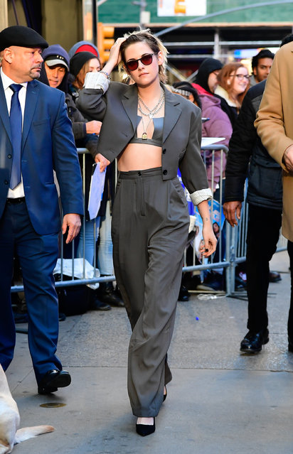 Actress Kristen Stewart is seen outside good morning america on November 6, 2019 in New York City. (Photo by Raymond Hall/GC Images)