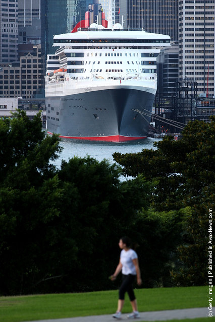 The Queen Mary 2 berths at Circular Quay on March 7, 2012 in Sydney, Australia