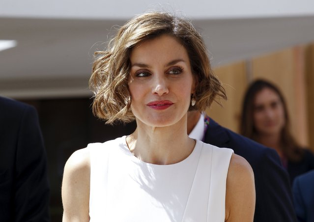 Spain's Queen Letizia arrives to visit the Expo 2015 global fair in Milan, Italy, July 23, 2015. (Photo by Alessandro Garofalo/Reuters)