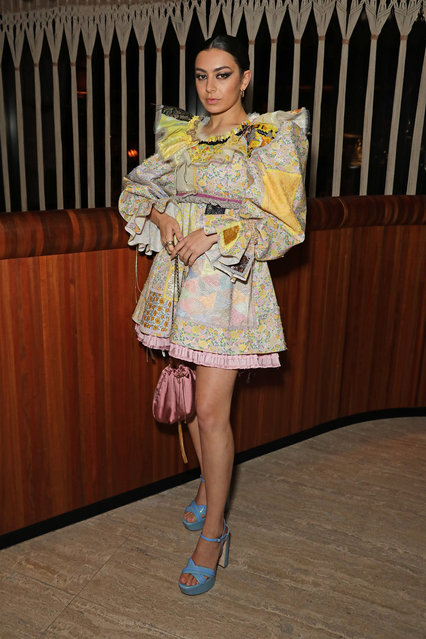 Charli XCX attends the LOVE Magazine LFW Party, celebrating issue 23 at The Standard, London on February 17, 2020 in London, England. LOVE magazine is welcoming Ben Cobb as Editor-In-Chief Men's, Graham Rounthwaite as Creative Director, and Oliver Volquardsen as Fashion Director. (Photo by David M. Benett/Dave Benett/Getty Images for LOVE Magazine)