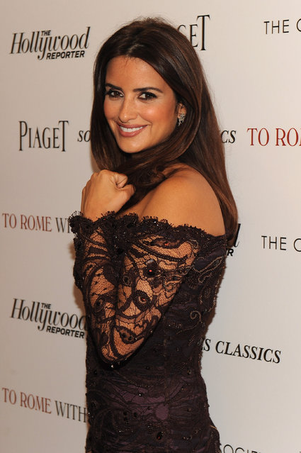 """Actress Penelope Cruz attends the Cinema Society with The Hollywood Reporter & Piaget and Disaronno special screening of """"To Rome With Love"""" at the Paris Theatre on June 20, 2012 in New York City. (Photo by Larry Busacca/Getty Images)"""