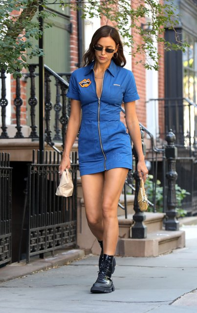 Russian model Irina Shayk is seen on September 04, 2020 in New York City. (Photo by Jose Perez/Bauer-Griffin/GC Images)