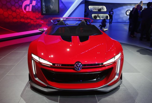 The Volkswagen GTI Roadster concept car on show at the Los Angeles Auto Show in California, November 19, 2014. (Photo by Mario Anzuoni/Reuters)