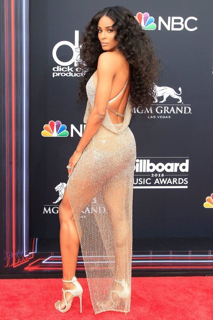 Recording artist Ciara attends the 2018 Billboard Music Awards at MGM Grand Garden Arena on May 20, 2018 in Las Vegas, Nevada. (Photo by Nina Prommer/EPA/EFE/Rex Features/Shutterstock)