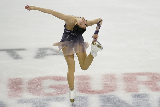 Alysa Liu performs during the women's free skate at the U.S. Figure Skating Championships, Friday, January 15, 2021, in Las Vegas. (Photo by John Locher/AP Photo)