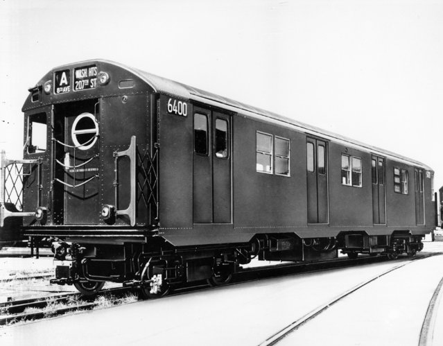 """This is an undated photo of a New York City subway car, the """"A"""" train. (Photo by AP Photo)"""