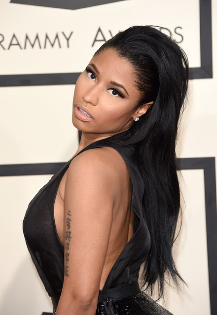 Rapper Nicki Minaj attends The 57th Annual GRAMMY Awards at the STAPLES Center on February 8, 2015 in Los Angeles, California. (Photo by Jason Merritt/Getty Images)