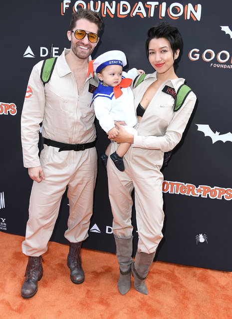 Matthew Morrison, Renee Puente arrives at the Jessica and Jerry Seinfeld's GOOD + Halloween Bash at Sony Pictures Studios on October 28, 2018 in Culver City, California. (Photo by Steve Granitz/WireImage)