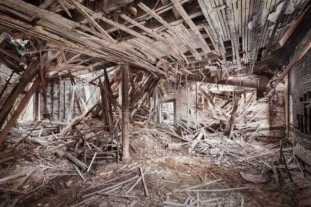 The Staten Island Farm Colony was constructed in the 19th century to house and rehabilitate the city's poor.  This was the last room standing in a collapsed dormitory now slated for demolition. (Photo by Will Ellis)