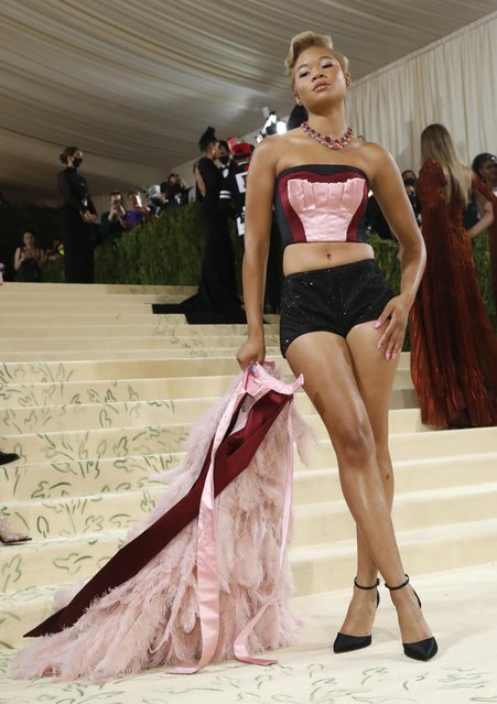 American actress Storm Reid attends The 2021 Met Gala Celebrating In America: A Lexicon Of Fashion at Metropolitan Museum of Art on September 13, 2021 in New York City. (Photo by Mario Anzuoni/Reuters)