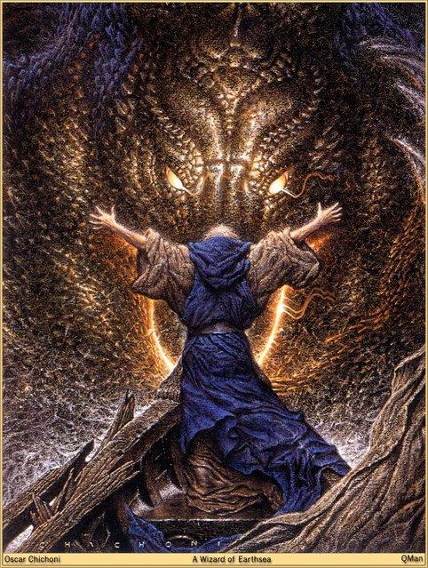 A Wizard of Earthsea. Artwork by Oscar Chichoni