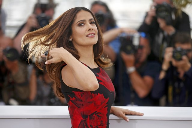 "Cast member Salma Hayek poses during a photocall for the film ""Tale of Tales"" in competition at the 68th Cannes Film Festival in Cannes, southern France, May 14, 2015. (Photo by Benoit Tessier/Reuters)"