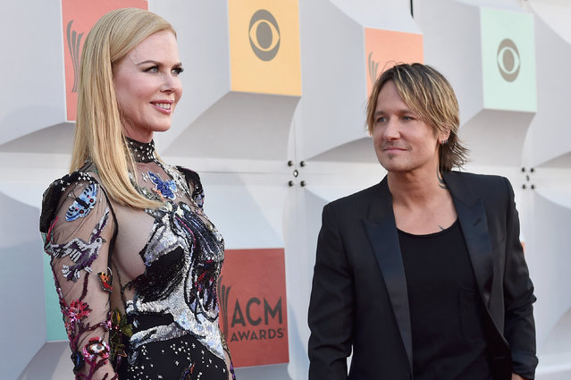 Actress Nicole Kidman (L) and recording artist Keith Urban attend the 51st Academy of Country Music Awards at MGM Grand Garden Arena on April 3, 2016 in Las Vegas, Nevada. (Photo by David Becker/Getty Images)
