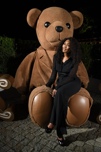 Angela Bassett, wearing Max Mara, attends a dinner after the Max Mara Resort 2020 Fashion Show at Neues Museum on June 03, 2019 in Berlin, Germany. (Photo by Daniele Venturelli/Getty Images for Max Mara)
