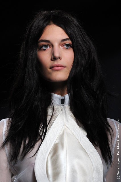A model walks the runway during the Givenchy Ready to Wear Spring / Summer 2012 show during Paris Fashion Week